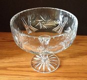 Etched Crystal Glass Pedestal Bowl in Chicago, Illinois