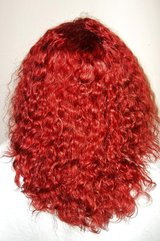 """12"""" 6a burgundy brazilian afro kinky curly 150% density gluelss lace front wig in Greenville, North Carolina"""