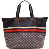 authentic gucci diamante red navy grey xlarge travel tote bag in Greenville, North Carolina