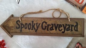 "Halloween Sign - "" Spooky Graveyard"" on Arrow in Orland Park, Illinois"