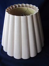 "Lamp Shade Round Fluted Semi Circles Linen with Vinyl Lining 12"" tall in Naperville, Illinois"