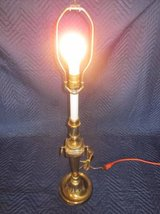 "Antique Brass Lamp 25"" tall Round Base ~ Rembrandt? in Naperville, Illinois"
