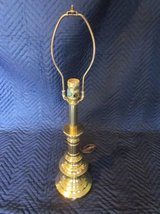 "STIFFEL Brass Lamp 25"" tall Round Base ~ EXCELLENT in Chicago, Illinois"