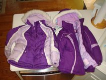 """2"" Purple Girls Winter Coats w/ Hoods + Gloves Size 6 6X Both for $15 cash in Brookfield, Wisconsin"