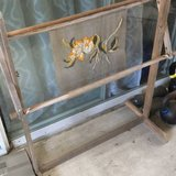 Vintage embroidery stand. Large. Had a half done embroidery in there. Super cute in Oceanside, California