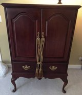 Queen Ann Cherry Armoire w/ retractable doors in Bartlett, Illinois
