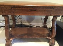 Antique Solid Oak Library Table in Schaumburg, Illinois