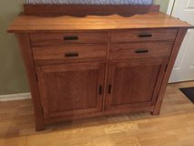 America solid wood buffet hutch table cabinet dishes serving oak curio in Brookfield, Wisconsin