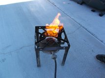 portable single square burner propane stove for camping patio & rv works w/5LB Propane Tank 140013 in Fort Carson, Colorado