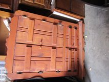 pre owned entertainment armoire tv stand stained finish western style    90167 in Huntington Beach, California