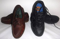 Men's Sz 8.5 Thom McAn Leather Deck/Boat -OR- Dr Scholl's Gym Shoes in Lockport, Illinois