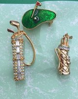 Golf Brooch , Lot of 3 Golf Brooch Van Dell-brooch in Westmont, Illinois