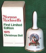 Vintage 1975 Norman Rockwell's First Limited Edition Christmas Bell - In Box in Morris, Illinois