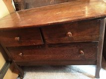 Antique 3 Drawer Dresser w/ Mirror in Schaumburg, Illinois