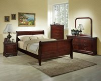 *** BRAND NEW *** 7PC SOLID WOOD KING CHERRY BED SET *** NO CREDIT in Nashville, Tennessee