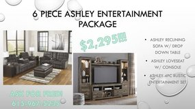 ** NO CREDIT ** 6 PIECE ASHLEY ENTERTAINMENT SET AND RECLINING SET ** in Nashville, Tennessee