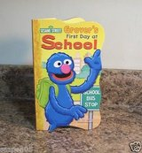 Sesame Street Board Book Grovers First Day At School in Morris, Illinois