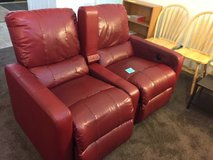 Movie theater seats/Recliner- Red leather-$199 obo in Fort Lewis, Washington