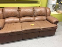 Brown Leather Sofa-2 recliners, perfect for the man-cave in Fort Lewis, Washington