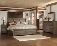 ** NO CREDIT ** ASHLEY RUSTIC GREY GRAY QUEEN BEDROOM SET ** in Nashville, Tennessee