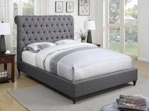 ** NO CREDIT ** QUEEN UPHOLSTERED TUFTED GREY GRAY BED ** BRAND NEW in Nashville, Tennessee