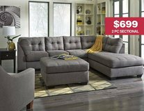 *** BRAND NEW *** ASHLEY 2 PIECE SECTIONAL GREY GRAY *** in Fort Campbell, Kentucky