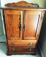 Childrens Oak Armoire with 2 drawers in Bartlett, Illinois