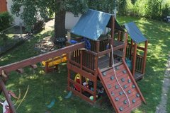 Amazing High End Wooden Playset in Kankakee, Illinois