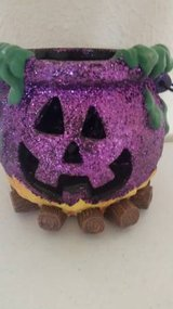 "A new sparkly purple 6""cauldron in Camp Pendleton, California"