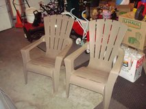 """2"" High Back Stacking Ergonomic Adirondack Chairs in BROWN L@@K!! in Brookfield, Wisconsin"
