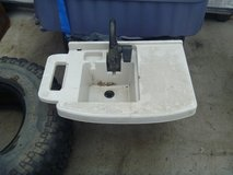 euc poly shop laundry sink with folding faucet and hose inlet and outlet 80301 in Huntington Beach, California