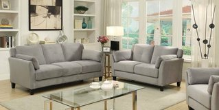 New Ysabel Flannelette Fabric Gray Sofa and/or Loveseat FREE DELIVERY+ in Miramar, California