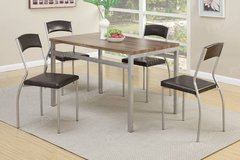 New Modern Table Dining Table + 4 Chairs FREE DELIVERY in Miramar, California