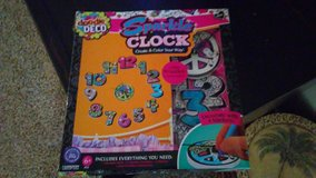 doodle deco create and color sparkle clock kit in Houston, Texas
