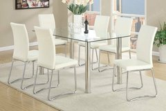 New 10MM Glass Dining Table + 6 Chairs Set FREE DELIVERY$$ in Miramar, California