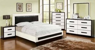 Black and White QUEEN Bed + 1 Nightstand FREE DELIVERY + in Miramar, California