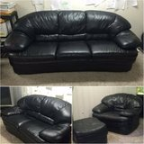 Natuzzi REAL LEATHER Couch, Loveseat & Chair SET - Delivery! in Naperville, Illinois