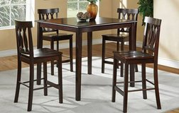 New Counter Height Espresso Dining Table + 4 Chairs Set FREE DELIVERY in Miramar, California