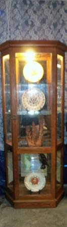 """Curio Cabinet $75  """"The Back Forty"""", Adel in Moody AFB, Georgia"""