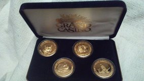 grand casino avoyelles wildlife series collector coins gold plated 1979 in Houston, Texas