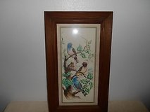 Multi-Colored Birds Framed Wall Hanging / Picture!    Glass protected!  Very nice!  Measures app... in Bellaire, Texas
