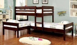 Mission Espresso Triple Bunk Bed with Trundle in San Clemente, California