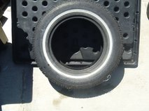 one used 195/75r14 winter king radial snow white wall tires 195 75 r 14 80306 in Huntington Beach, California