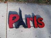 3 DIMENSIONAL  ALL METAL PARIS MARQUEE SIGN (RARE) in Naperville, Illinois
