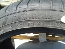 excellent two used yokoham w-drive tires touring low profile 245/40r18 80290 in Huntington Beach, California
