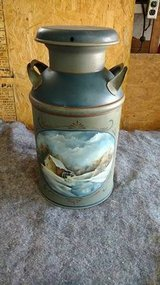 Painted milk can in Fort Leavenworth, Kansas