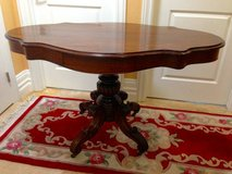 Antique Entry Table Scallop Shape Top in Fairfield, California