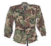 Military USMC Issued Woodland Camouflage Combat Coat Men Woman XS Short X Small in Morris, Illinois