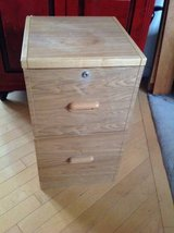 2 Drawer Light Wood File Cabinet in Bolingbrook, Illinois