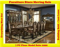 AICO Sovereign 7 PC Dining Room Set-Name Brand Furniture Floor Model in Great Lakes, Illinois